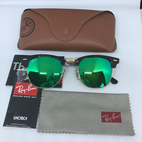 20224c882e7a9 ray-ban clubmaster green tortoise Size 51mm. NWT